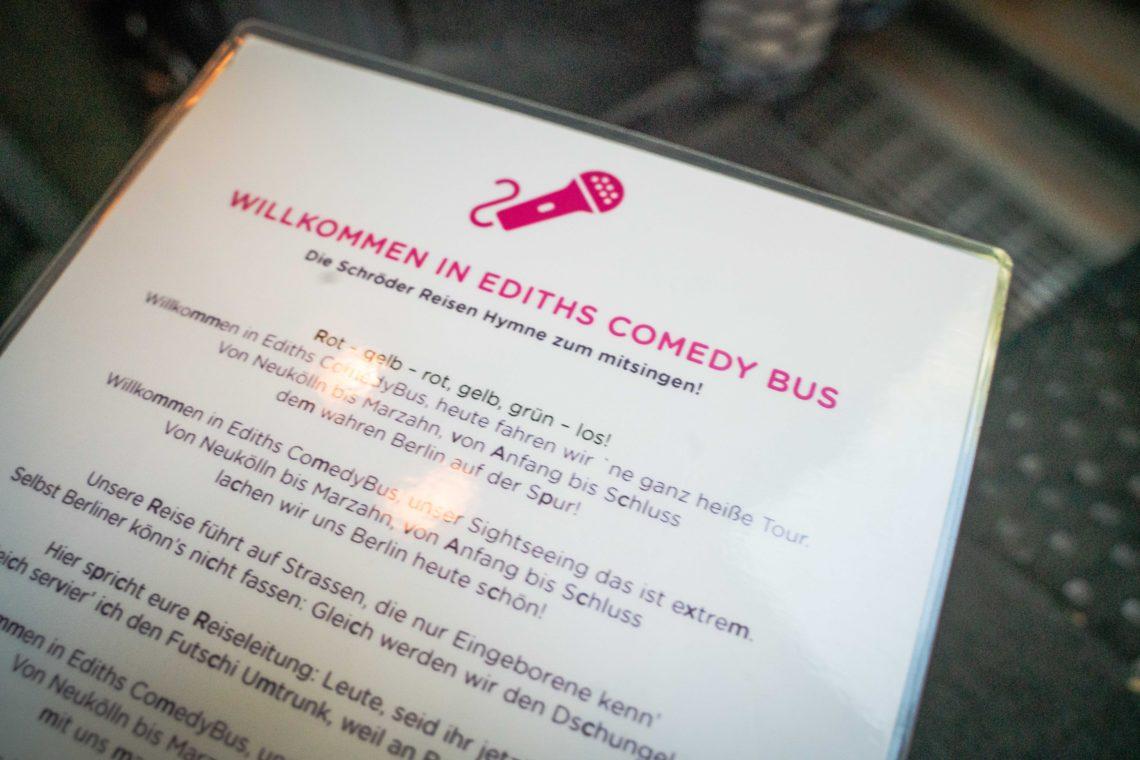 Regeln für Ediths Comedy Bus
