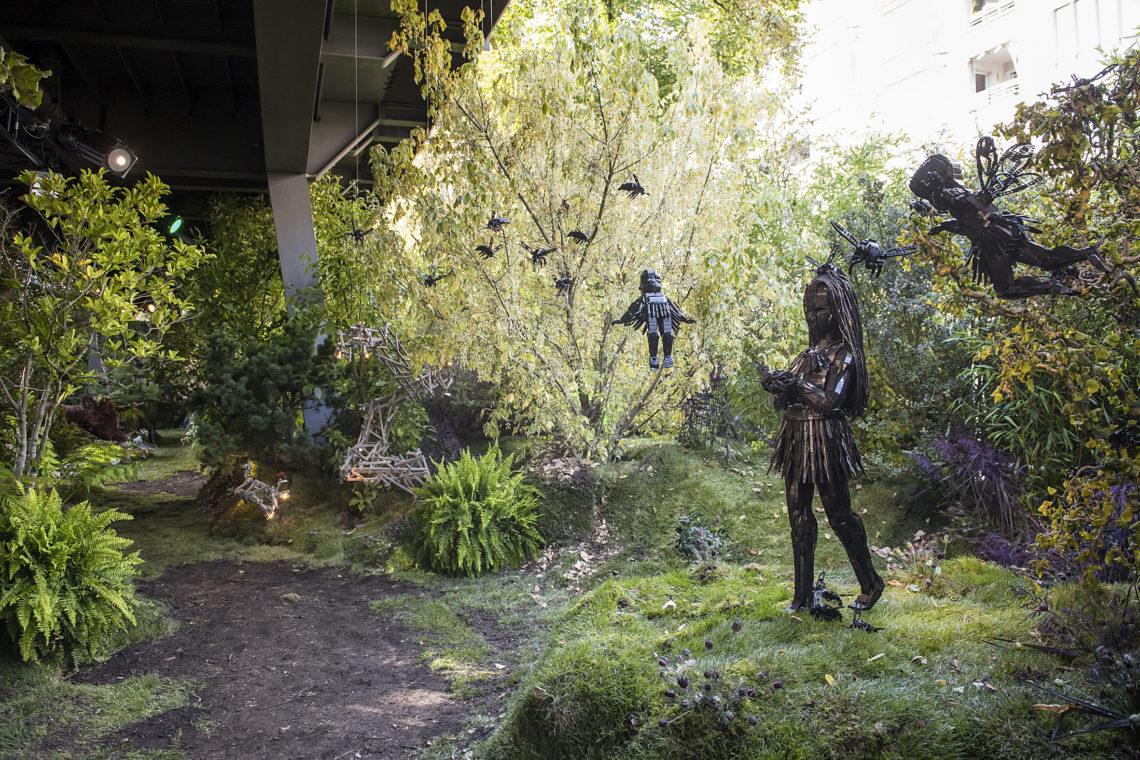 Kunstwerk von Ekow Nimako bei der Urban Nation Biennale
