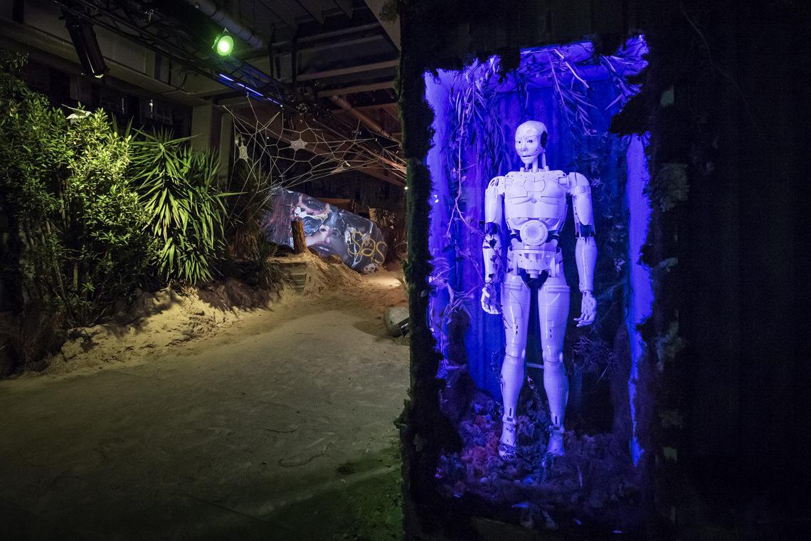 Kunstwerk von Mimic Productions bei der Urban Art Biennale