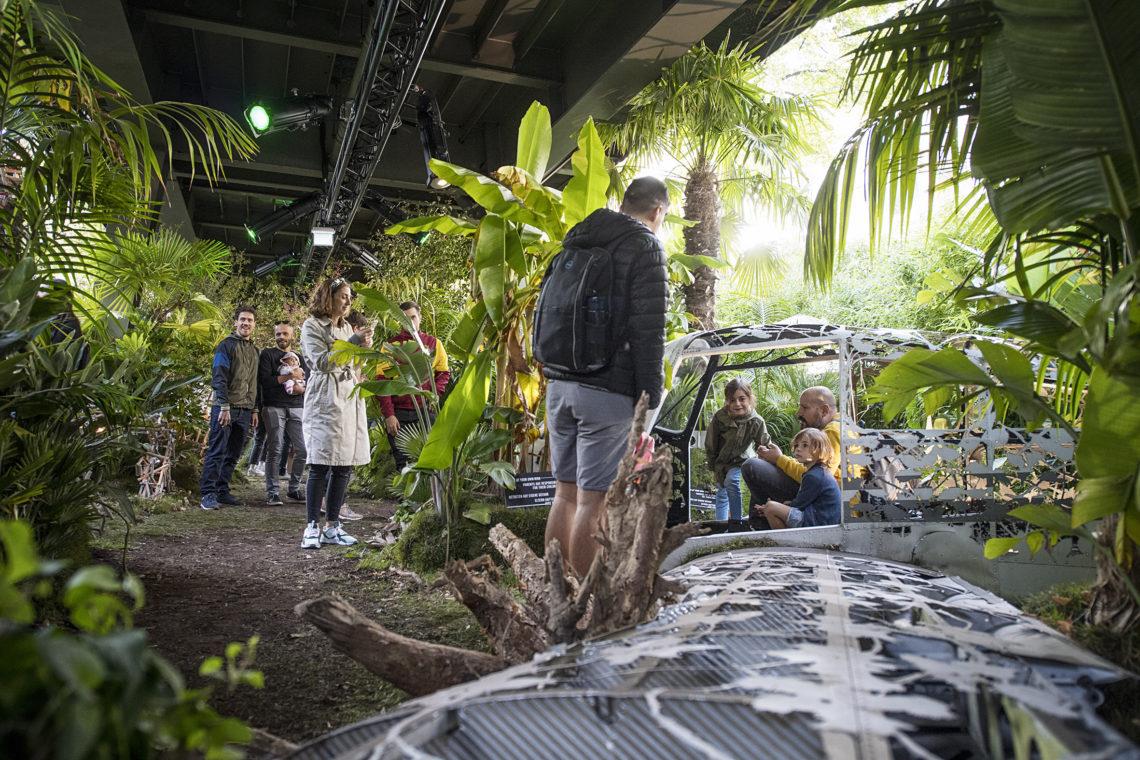 Kunstwerk von Dan Rawlings bei der Urban Nation Biennale