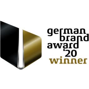 Logo für den Gewinner vom German Brand Award 2020