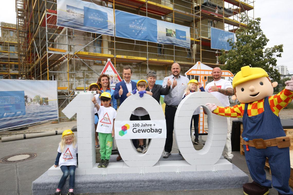 Gruppenfoto am Tag der kleinen Bauprofis 2020