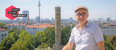 Michael Bienert auf dem Wasserturm.
