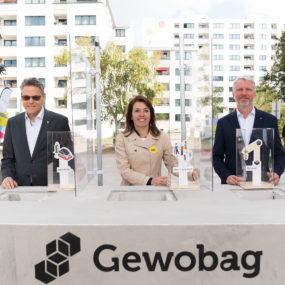 Grundsteinlegung für neue Wohnungen im Wohnpark Mariendorf
