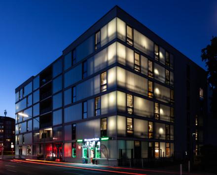 Bild vom Neubau in der Amrumer Straße -Süderoog und Norderoog bei den Pressebildern der Gewobag