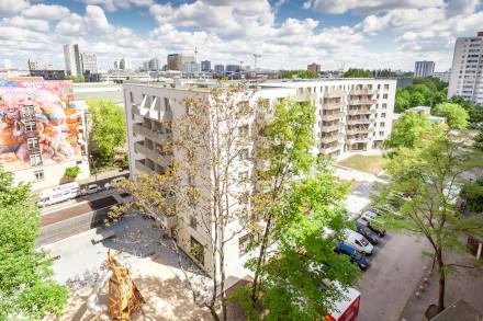 Foto vom Neubau in der Franz-Klühs-Straße bei den Pressebildern der Gewobag