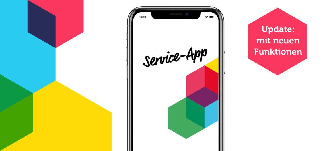 Handy mit Service-App der Gewobag