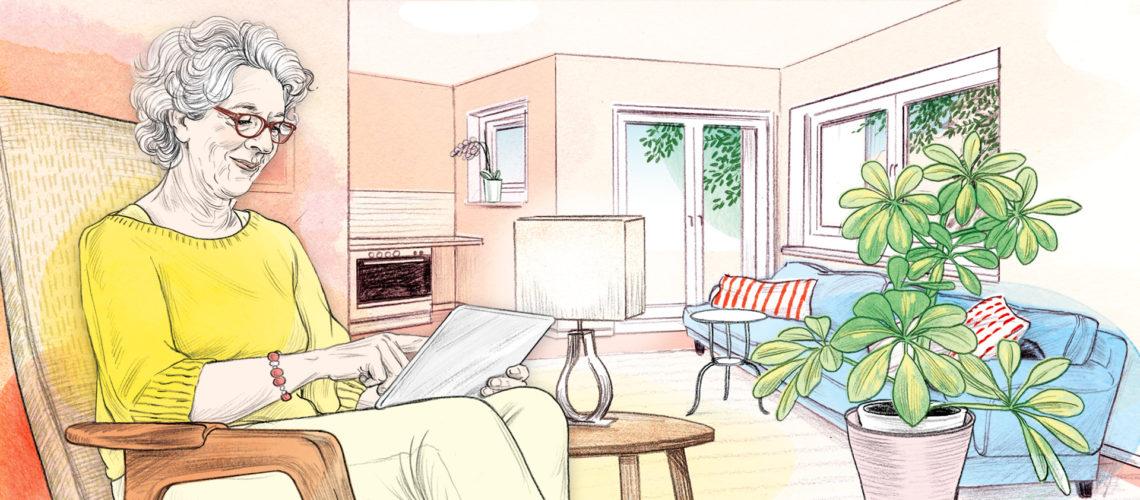 Visualisierung einer Bewohnerin von Wohn!Aktiv.