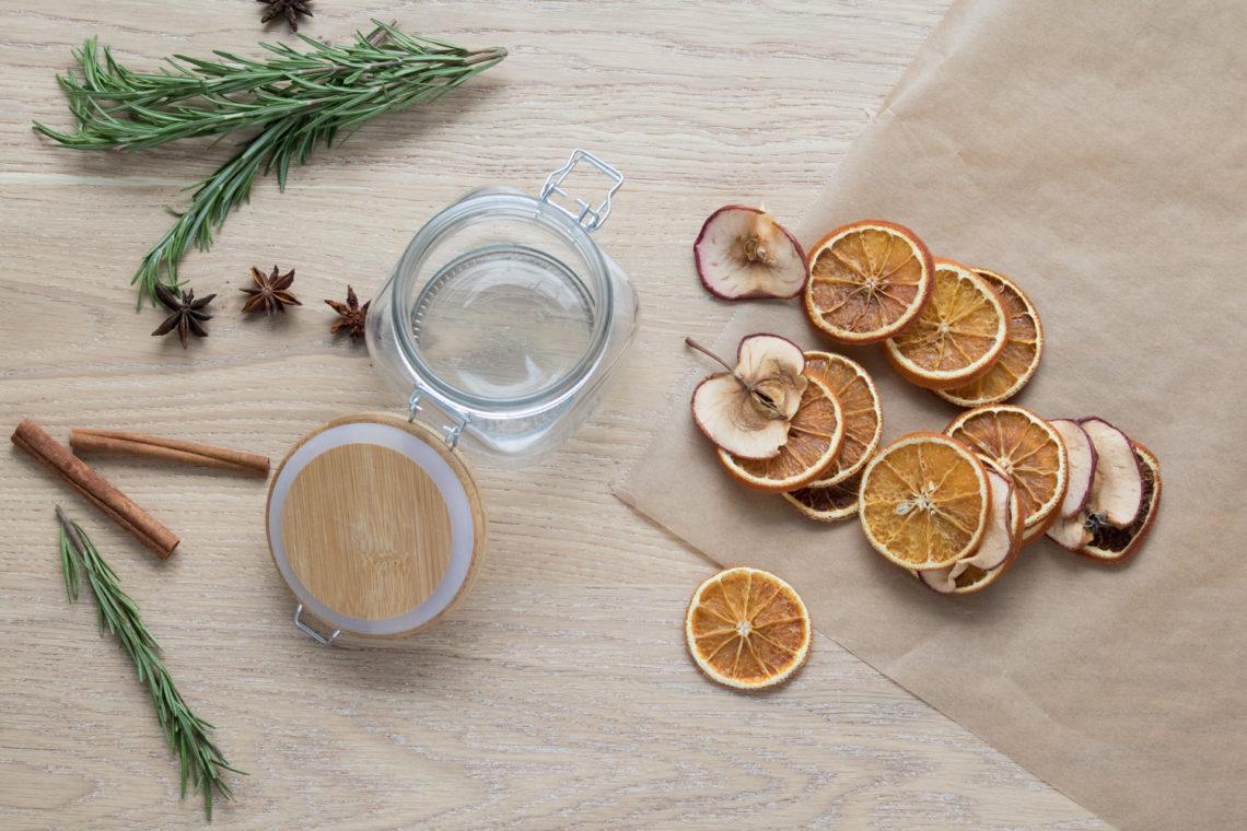 Raumduft selber machen -  aus getrockneten Orangen und Apfelscheiben