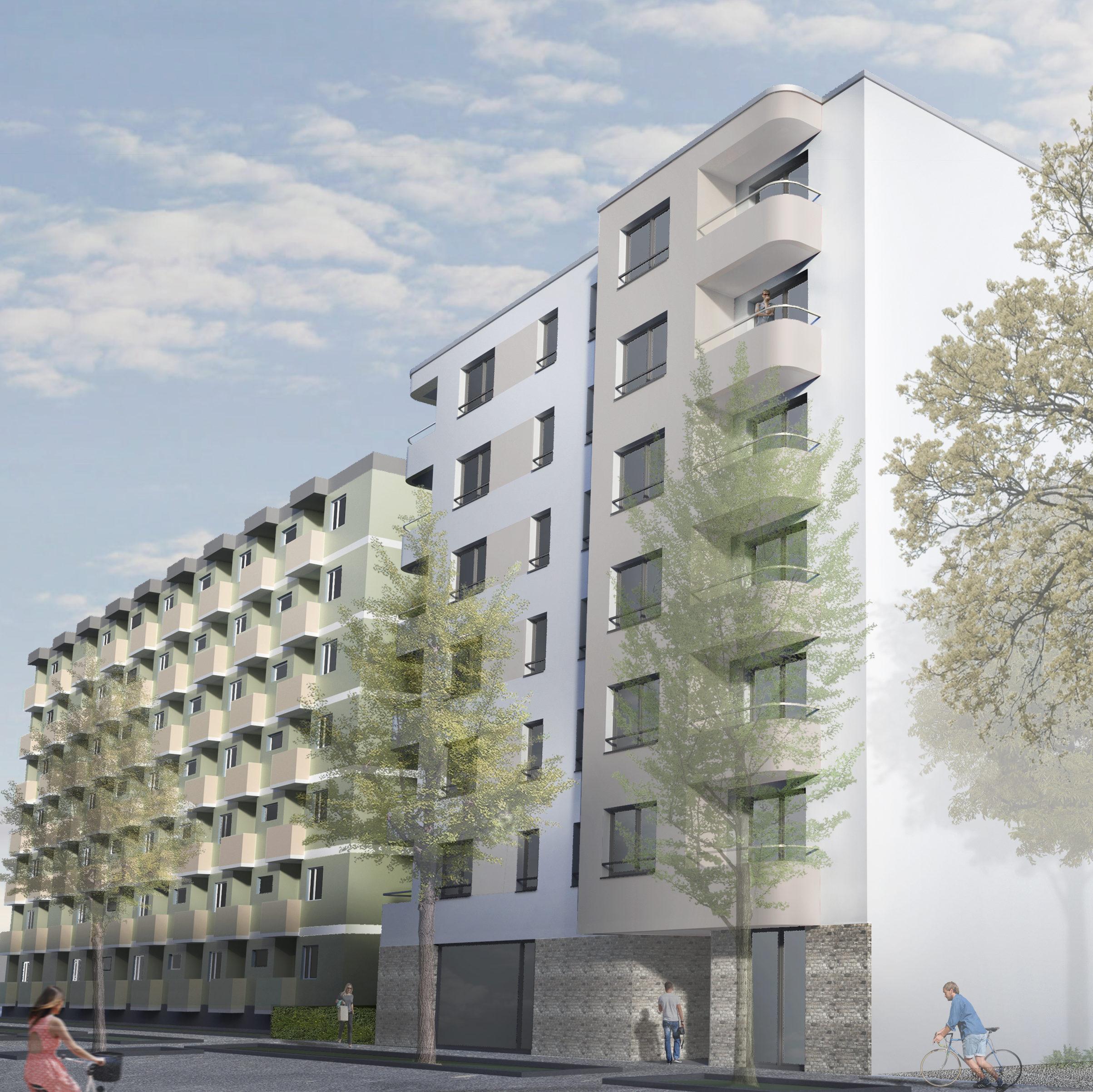 In der Wiclefstraße entsteht ein Zuhause für Auszubildende und Studenten.
