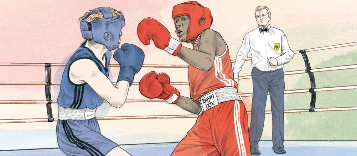 Die Boxer trainieren bei Isigym Boxsport.
