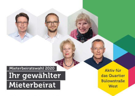 Portraits vom Mieterbeirat Bülowstraße West