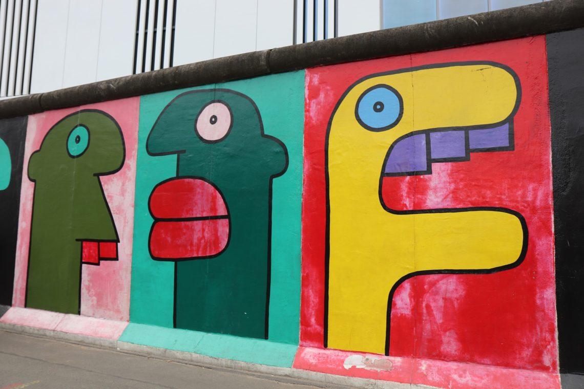 Spazieren in Berlin Berliner Mauer