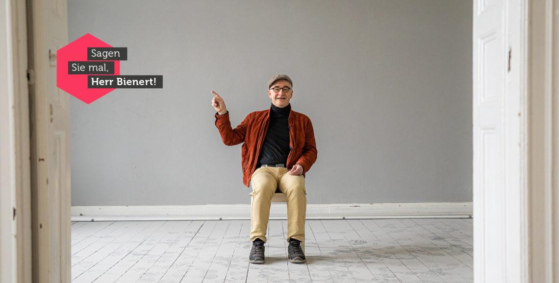 Michael Bienert in dem Haus der Zukunft