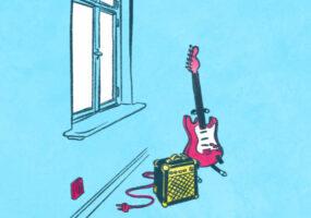 Illustrationen zum Thema Abkühlen in der Sommerhitze