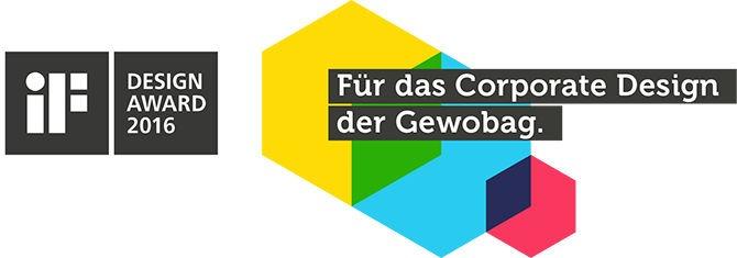 Design Preis für Gewobag Logo