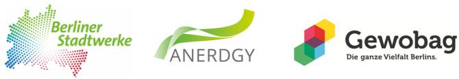 Logo der Unternehmen, die die Solar-Wind-Kraftanlage Windrail unterstützen.